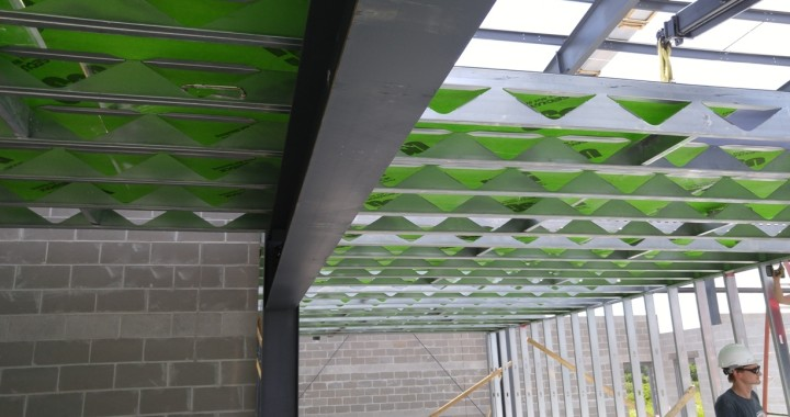 FORTECO Lightweight Composite Floor Framing System for 2nd floor of 5 Diamonds Mezzanine Sports Facility